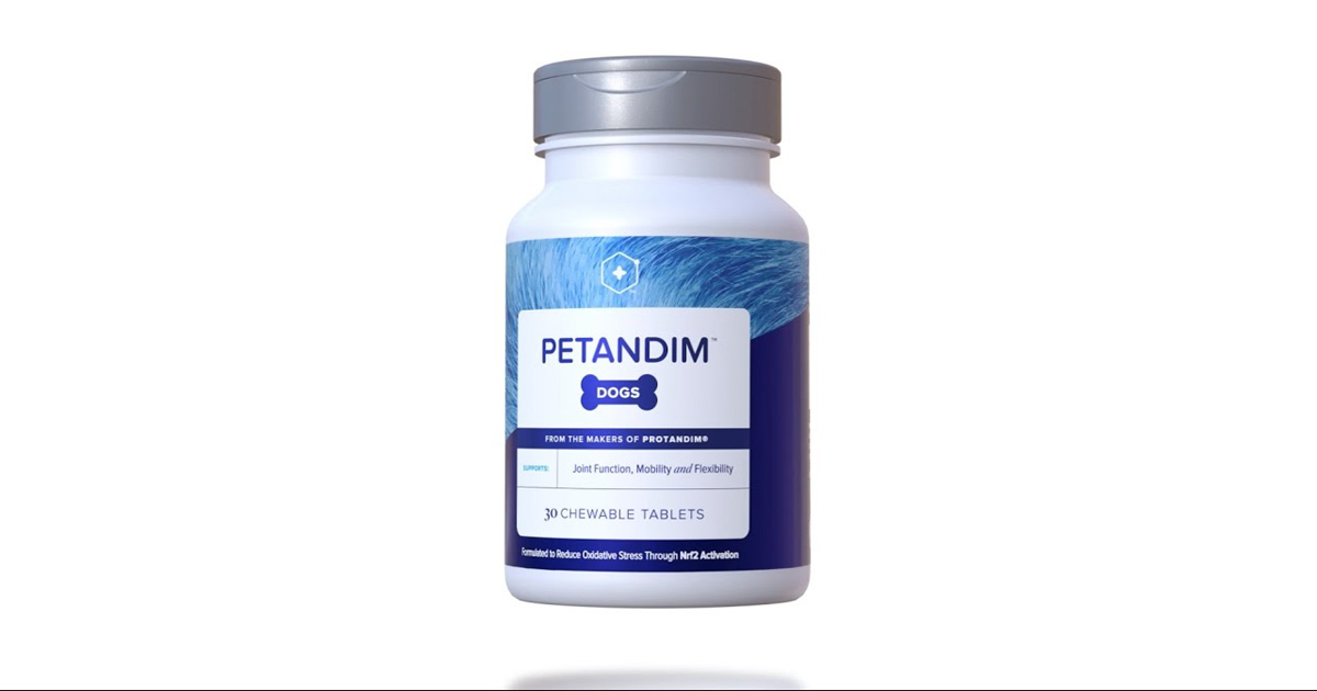 Biohacking Nutrigenomics Petandim All Natural Pet Supplement for More Energy, Better Hearing and Eyesight, and a shiner coat
